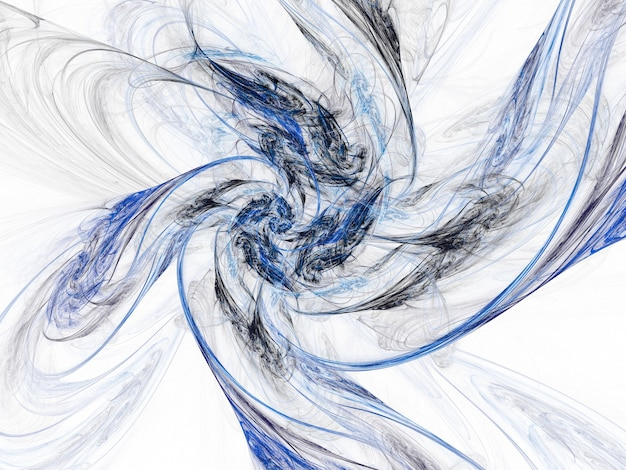 Farbige abstrakte runde kurven und linien auf weißem hintergrund