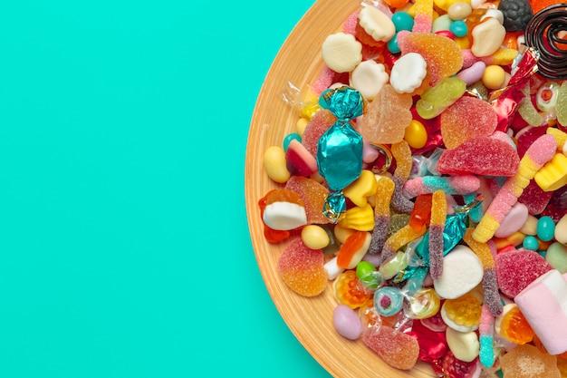 Farbige bonbons