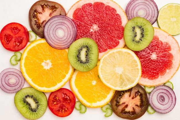 Farbige fruchtscheiben