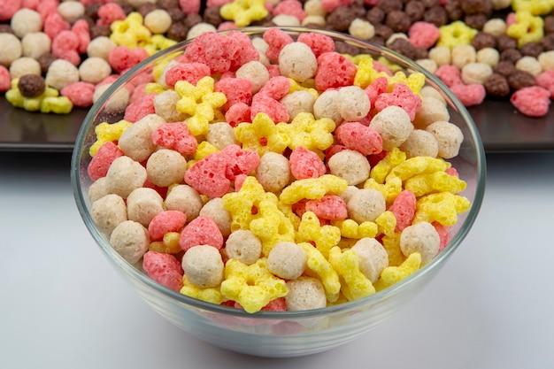 Farbige leichte snacks