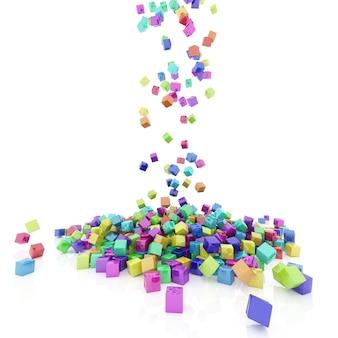 Farbige quadrate fallen