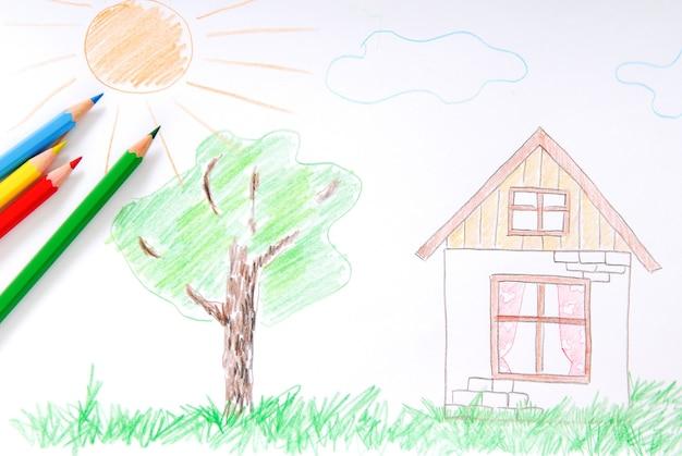 Farbige skizze für kinder