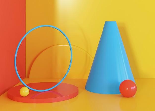 Farbiger geometrischer formenhintergrund