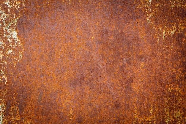 Farbiger rostiger gebeizter metallwandbeschaffenheitshintergrund