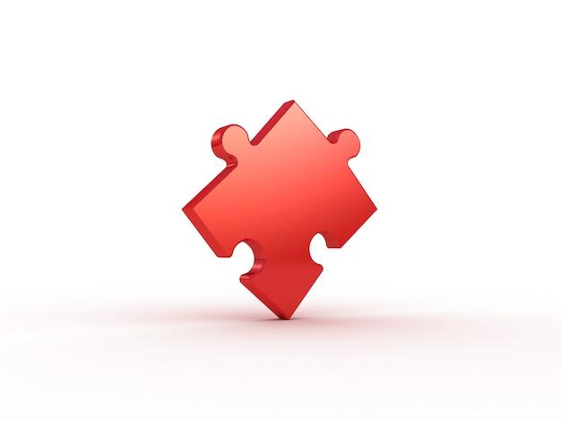 Farbiges puzzle auf weiß. 3d-illustration