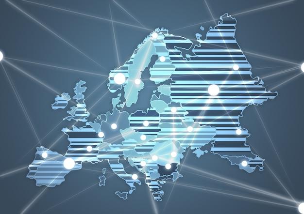 Farblandkarte von europa in grauer farbe