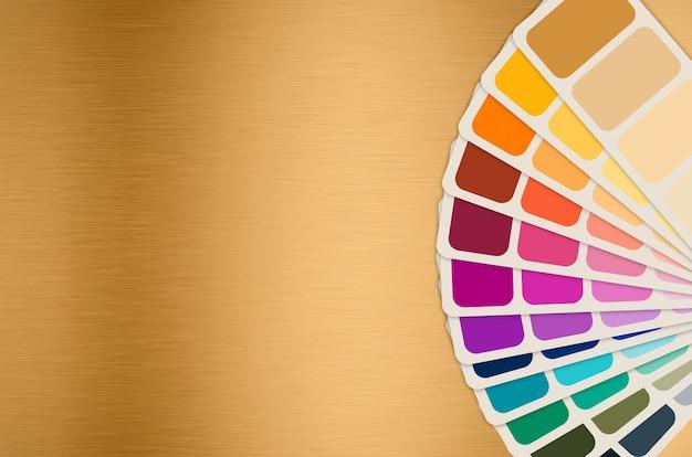Farbleitfaden oder farbmustersammlung