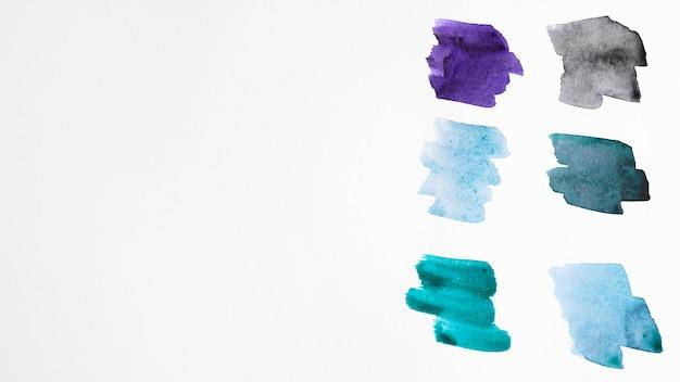 Farbpalette von aquarellflecken
