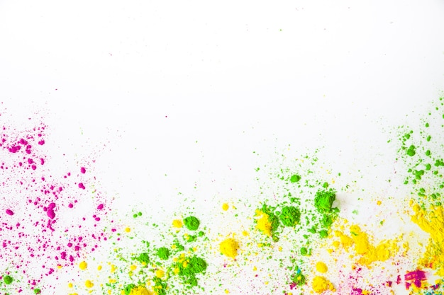 Farbpulver für holi-grußkarte