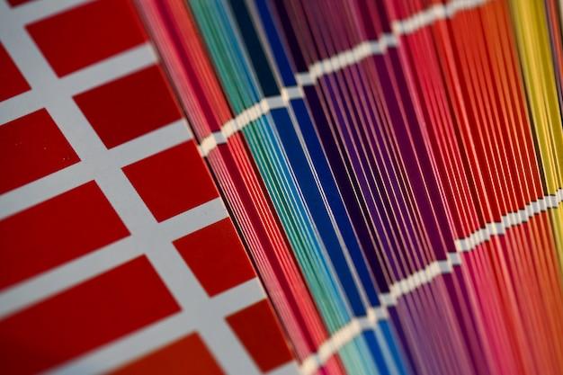 Farbschema oder katalog