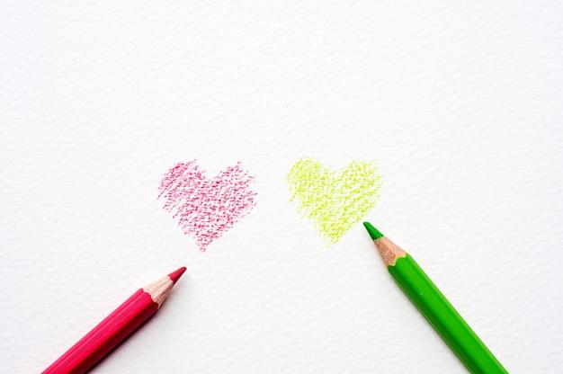 Farbstift auf den zeichnungen des weißbuches.