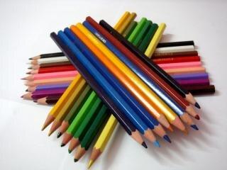 Farbstiften, büro