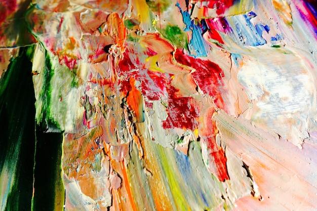 Farbtextur. hand gezeichnetes ölgemälde auf leinwand