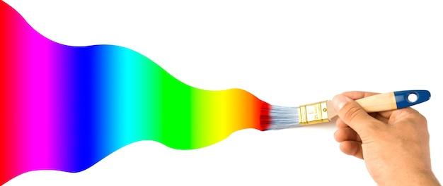 Farbverlaufsfarben malen. isoliert