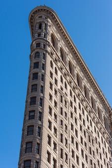 Fassade des flatiron-gebäudes in new york