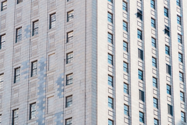 Fassade des hochhauswohngebäudes