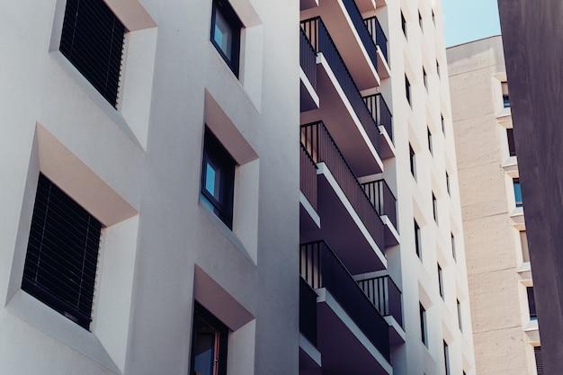 Fassade eines wohngebäudes