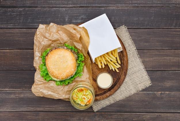 Fast-food-gericht nach oben