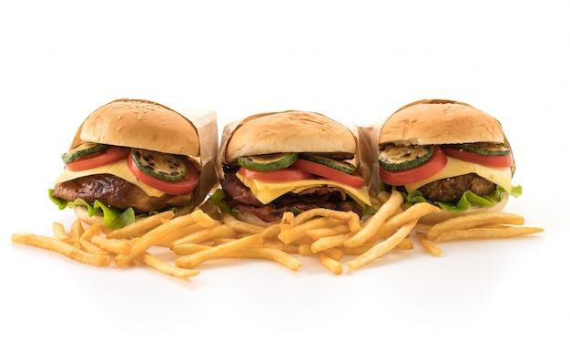 Fast food und junk food konzept