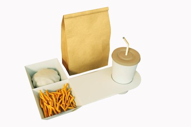 Fast-food-verpackungsset