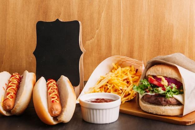 Fast food zusammensetzung