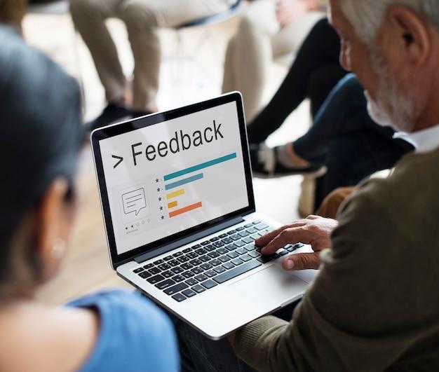 Feedback ergebnisse informationen zufriedenheit