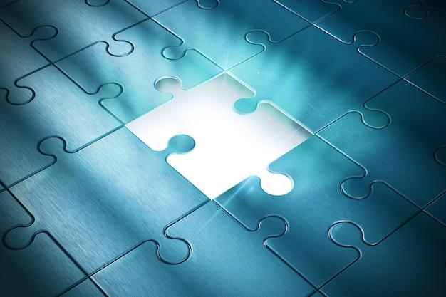 Fehlendes puzzleteil des erfolgs