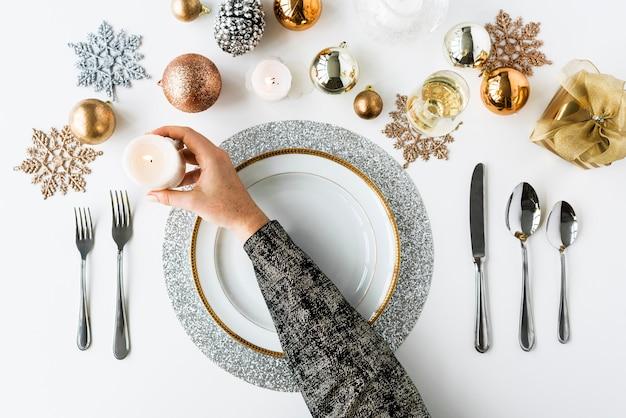 Feier-dekorations-konzept des weihnachtsneuen jahres