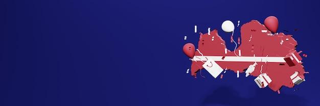 Feier des unabhängigkeitstages in lettland für website-cover