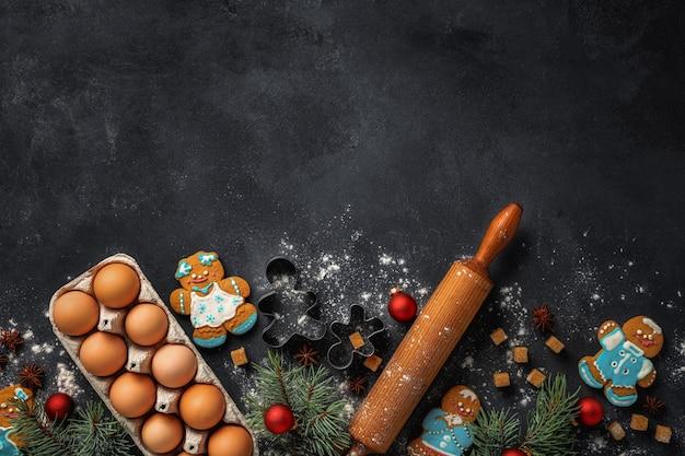 Feiertagsfeier und kochkonzept mit lebkuchen
