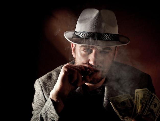 Feines porträt des gangsters