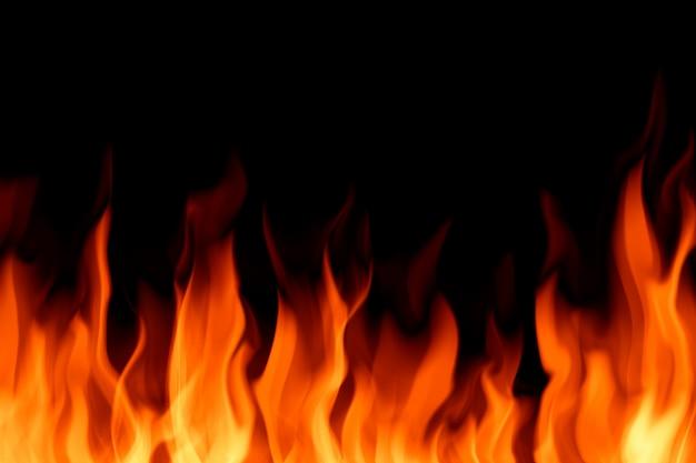 Feldfeuerhintergrund auf schwarzem