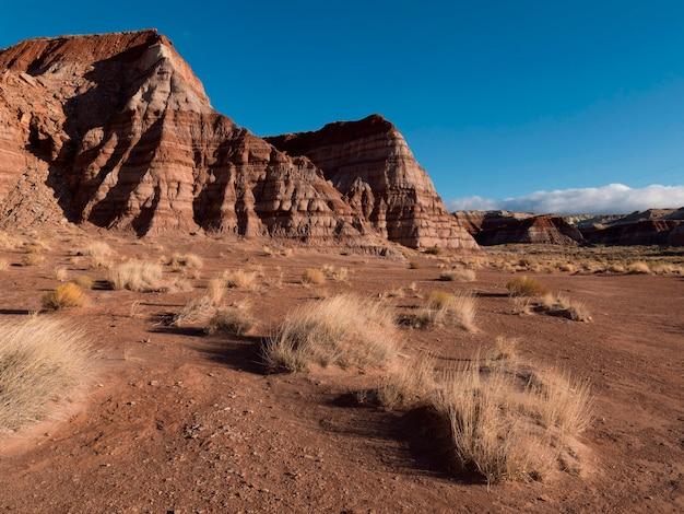 Felsformationen auf einer landschaft, grand staircase-escalante-nationaldenkmal, utah, usa