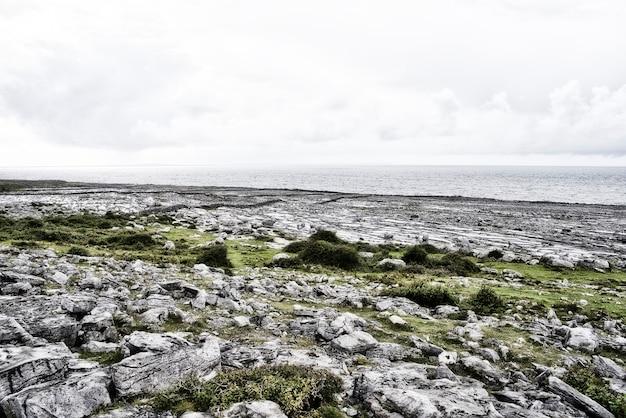 Felsiges feld in der grafschaft clare. irland