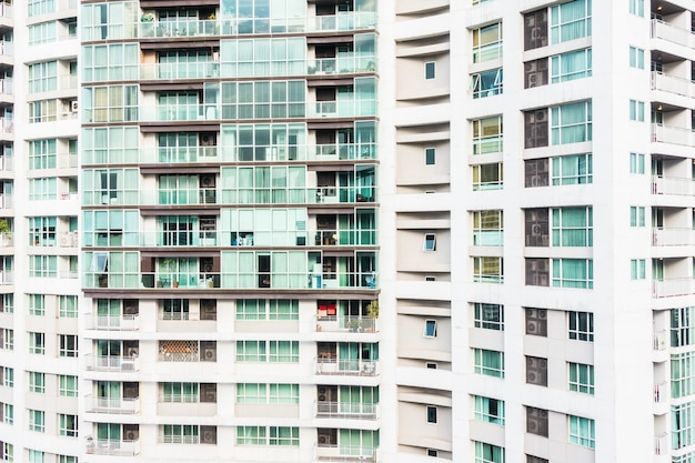 Fenstergebäude muster außen