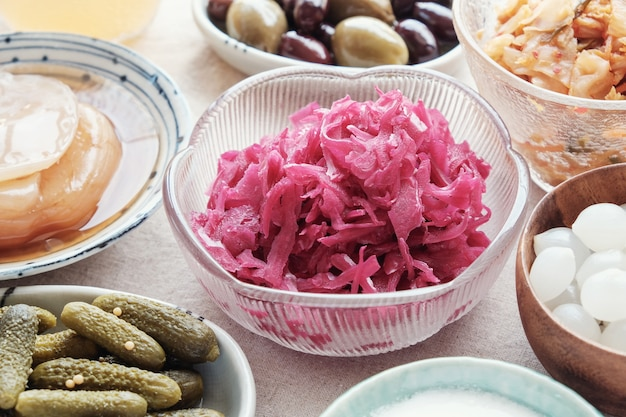 Fermentierte probiotische lebensmittel für die darmgesundheit