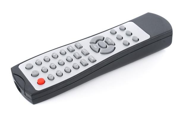 Fernbedienungsfernseher isoliert auf weißer oberfläche