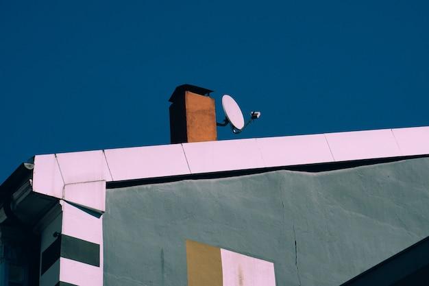 Fernsehantenne auf dem dach