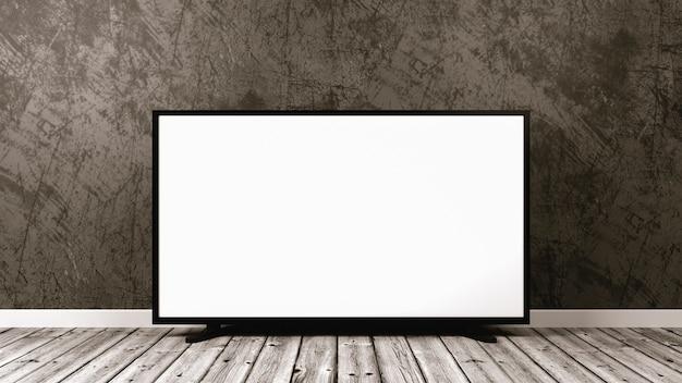 Fernseher auf holzboden