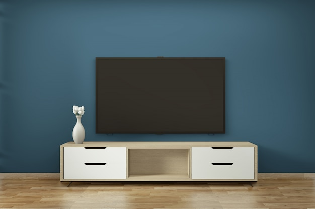 Fernsehkabinett in minimaler art zen moderner leerer raum janapese
