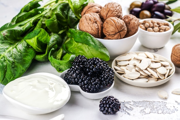 Fertility foods sortiment