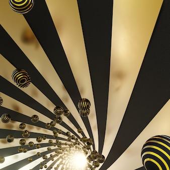 Festival in black gold background für werbung im festival und feiern szene
