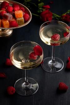 Festliche champagnergläser