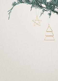 Festliche weihnachtsgrußkarte mit textraum