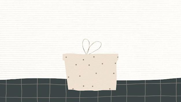 Festlicher hintergrund der geschenkbox mit designraum