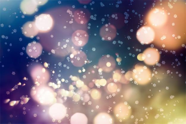 Festlicher weihnachtshintergrund. eleganter abstrakter hintergrund mit lichtern und sternen