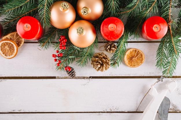 Festlicher weihnachtshintergrund