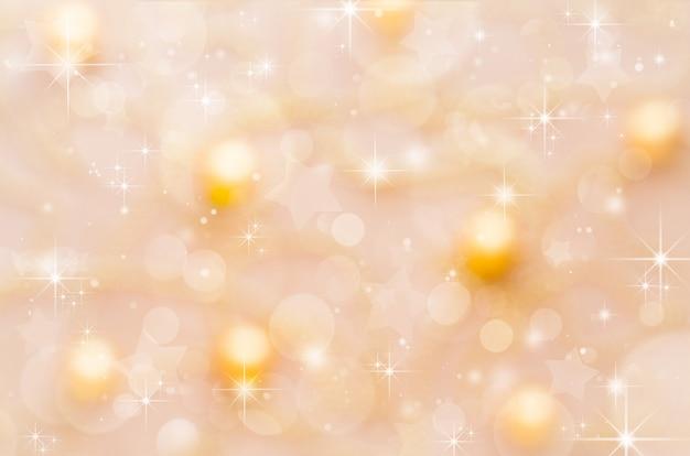Festlicher weihnachtszusammenfassungshintergrund mit bokeh. festlicher urlaubspartyhintergrund mit undeutlichem effekt.