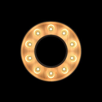 Festzeltlicht alphabet o