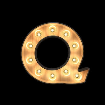 Festzeltlicht alphabet q